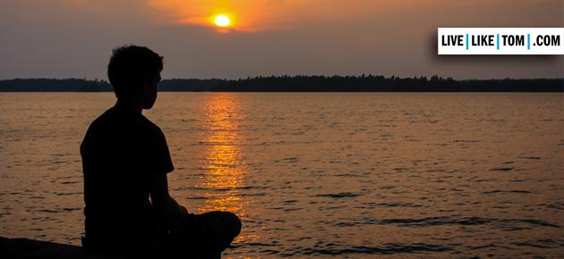meditating-sunset