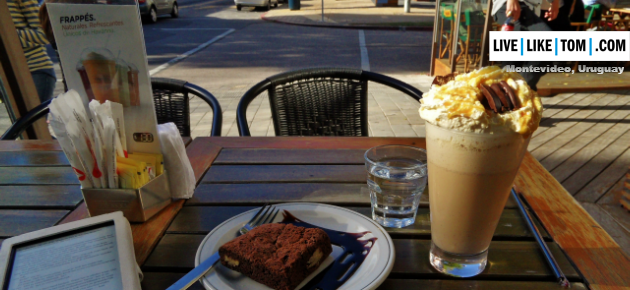 Montevideo dulce de leche frappucino