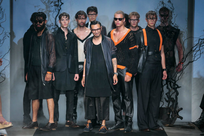 Jonathan Christopher Nexum MBFWA FashionLab Johnny Loco Team Peter Stigter