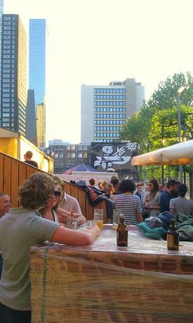 biergarten Rotterdam terrace