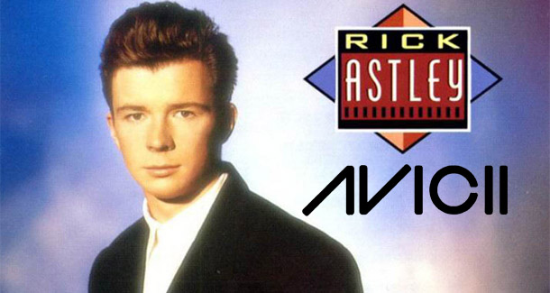 rick astley avicii mashup remix never gonna wake you up