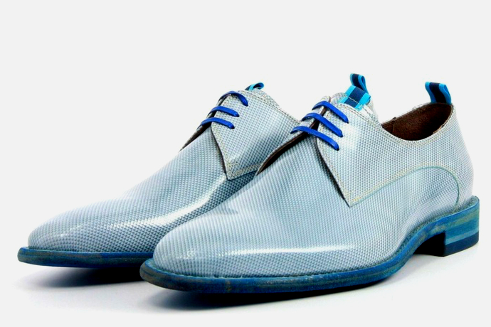 Floris van Bommel 14158 blauwe veterschoenen gay shoes shopping