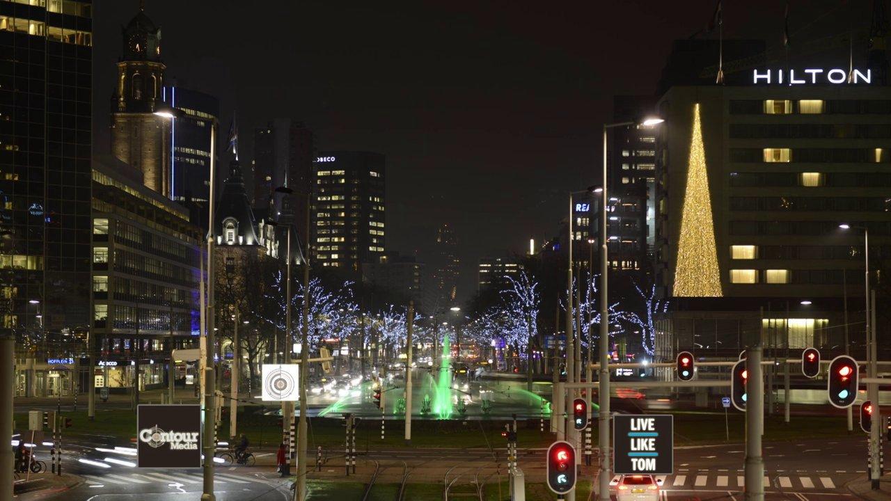 xmas lights in Rotterdam