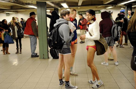 international no pants subway ride