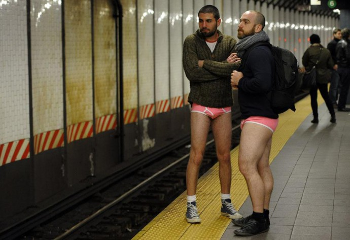 no pants subway ride 2015 NYC Rotterdam Amsterdam