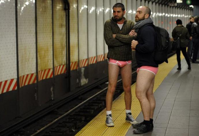 no pants subway ride 2015 NYC Rotterdam Amsterdam