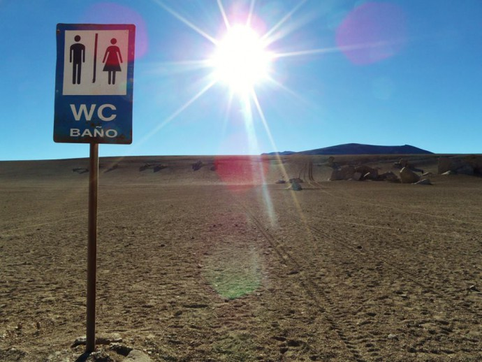 Bolivia Salar de Uyuni wc toilet loo