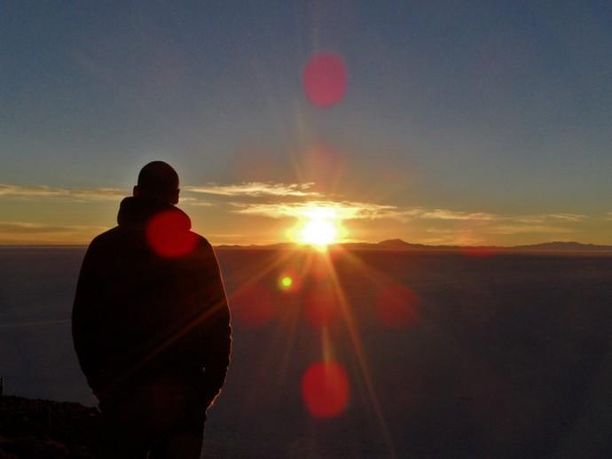 Bolivia Salar de Uyuni sunrise