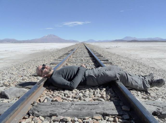 Bolivia Salar de Uyuni rail road
