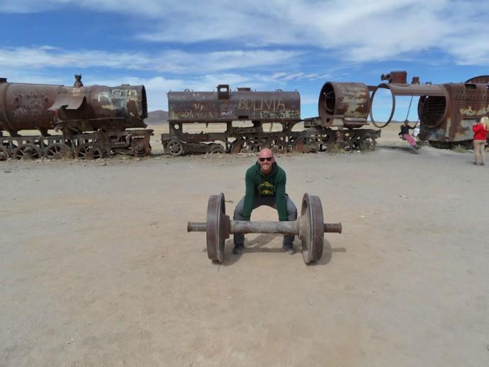 Bolivia Salar de Uyuni train station