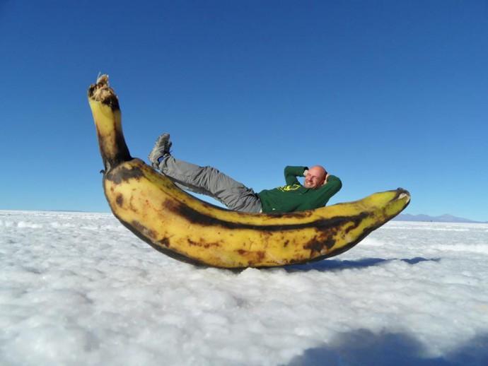 Bolivia Salar de Uyuni banana
