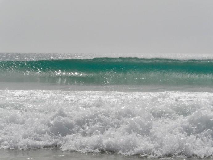 surfing waves in Tarifa