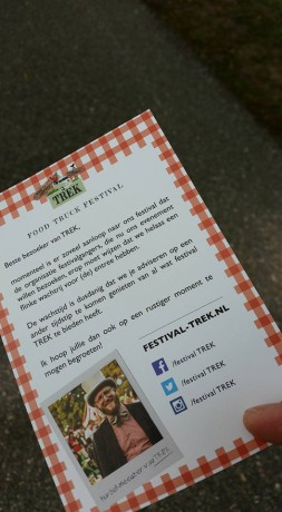 de oprot-flyer van Trek Festival