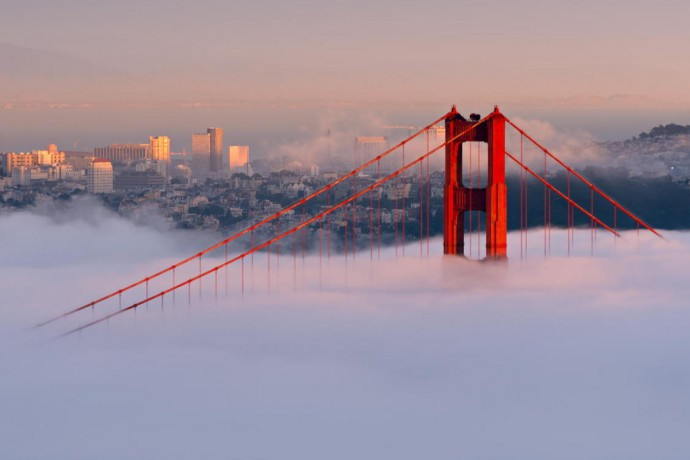 san Francisco cloud bridge taken from Huffington Post