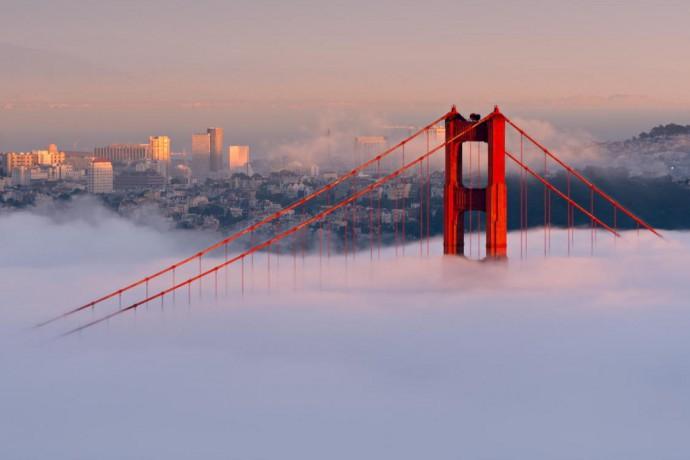 san Francisco cloud bridge taken from Huffington Post