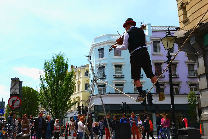 violin chord dancer brighton market street artist