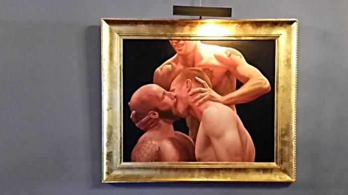 folsom art gallery guys forced kissing kink com the armory studio tour