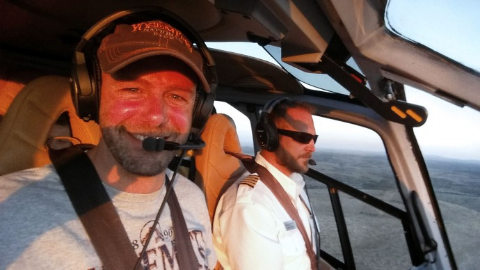 gay travel blogger on holiday helicopter grand canyon