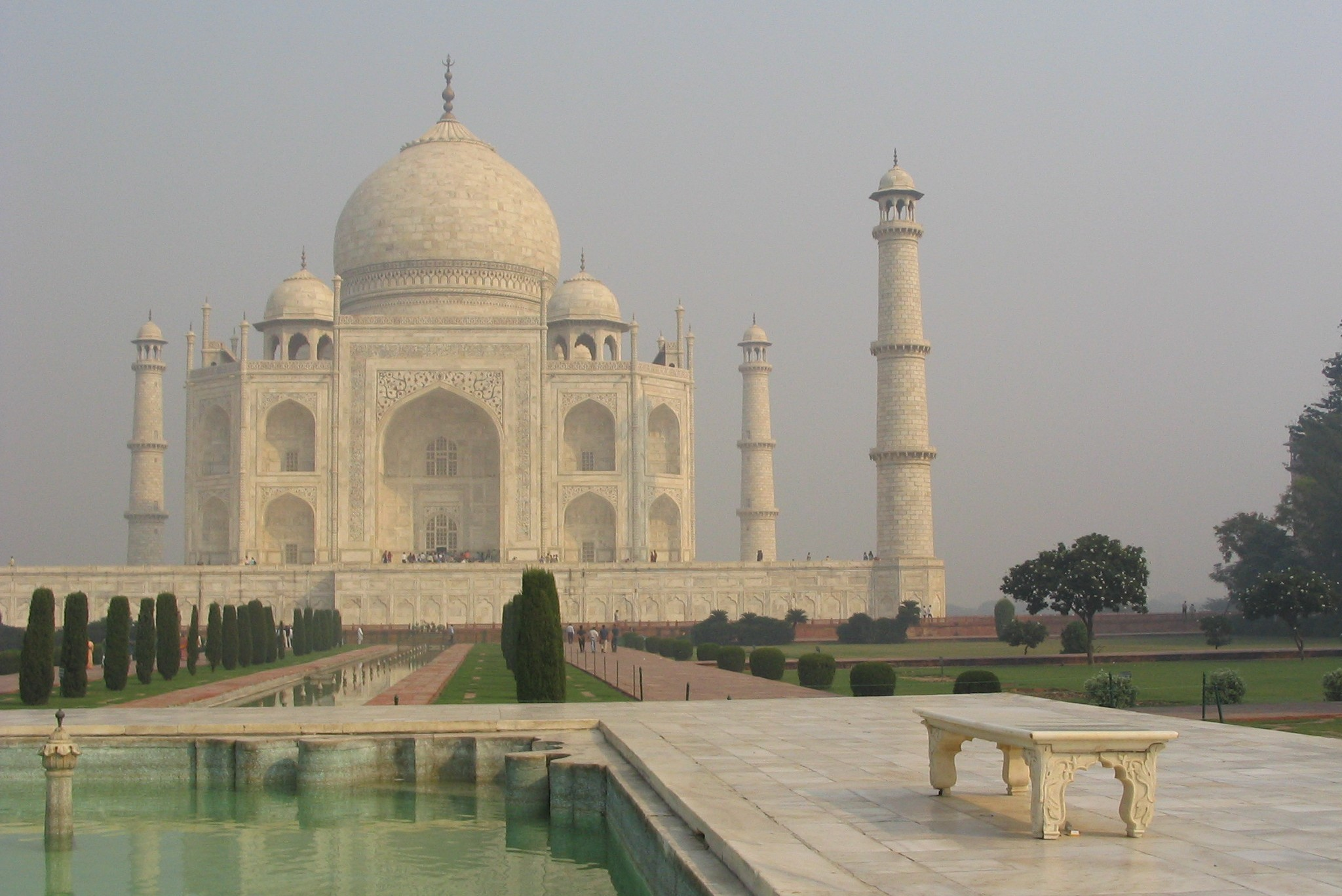 Taj Mahal without tourists worldtrip India