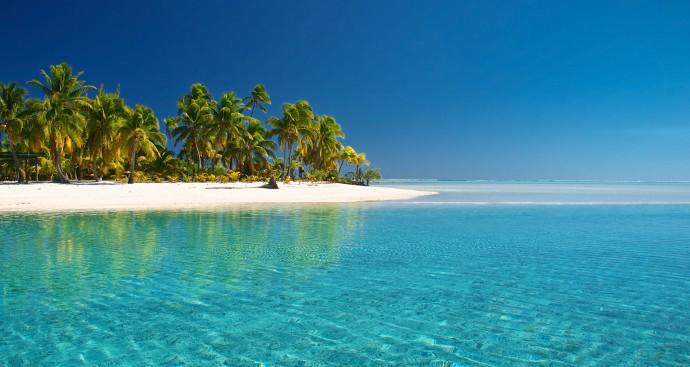 cook islands beautiful beach