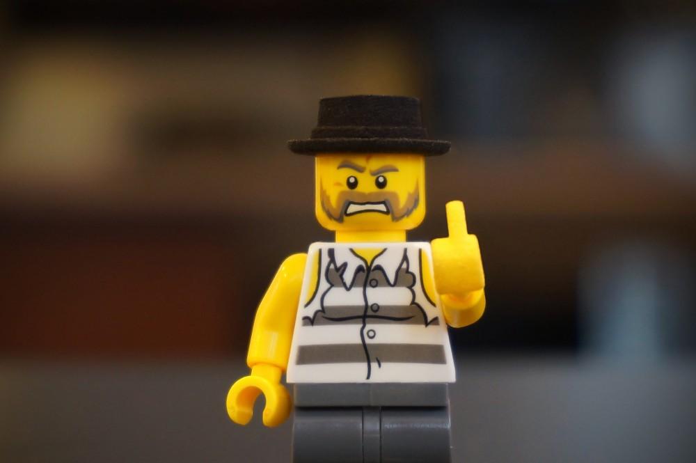 thug lego middle finger fukkit list
