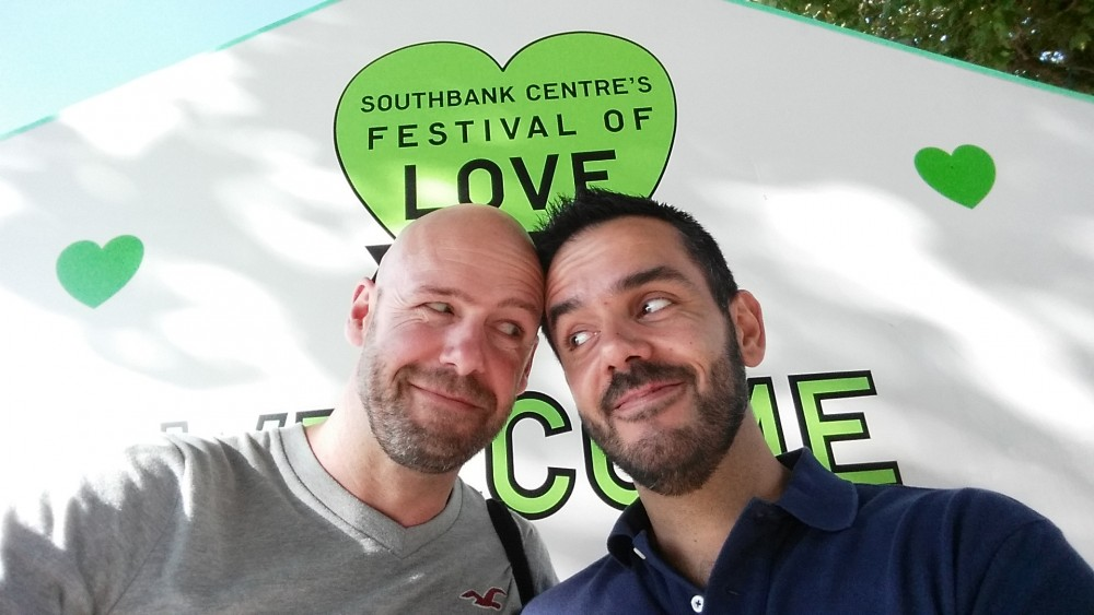 bearded gay couple love festival London