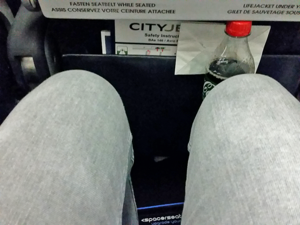 City Jet leg space Spacerseat