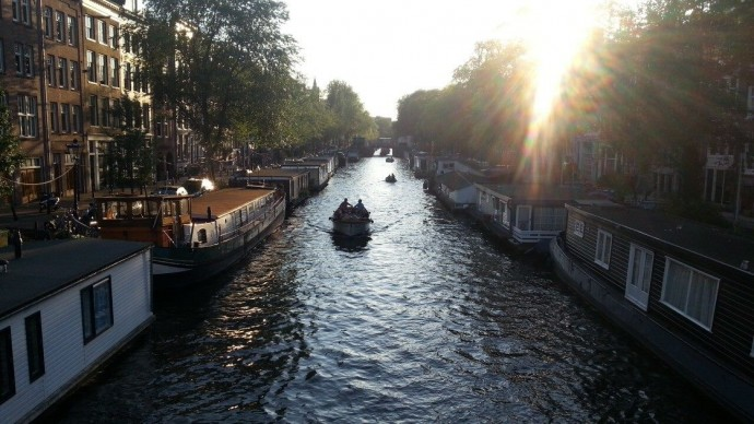 Amsterdam boat ride canals
