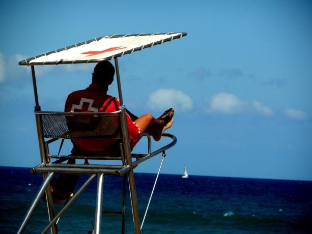 sitges life guard barcelona beach