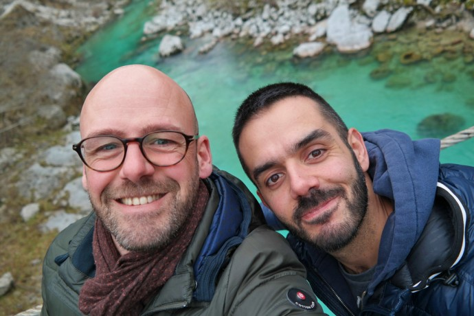 gay travel bloggers exploring destination slovenia