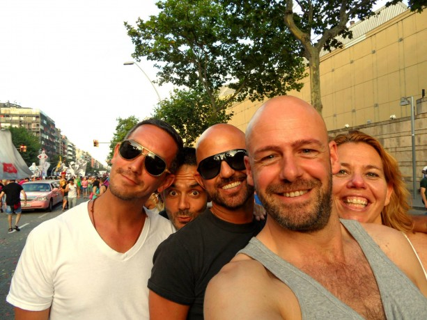 group of gay friends in Barcelona