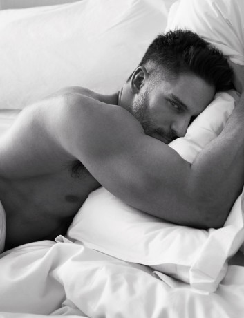 hot dude waking up in bed