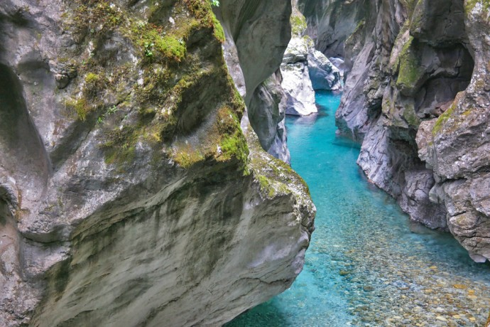 blue river slovenia hiking