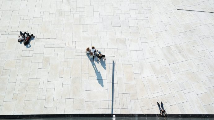 looking down from operahouse oslo