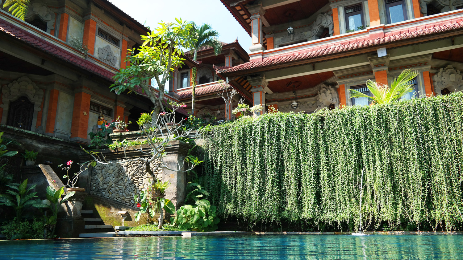 swimming pool at Nick's Hidden Cottages in Ubud