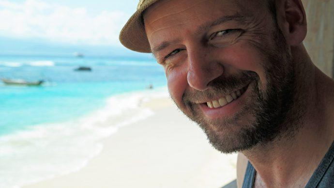 gay travel gay man scruff beard beach