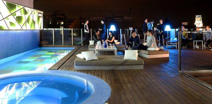 sky bar hotel axel barcelona