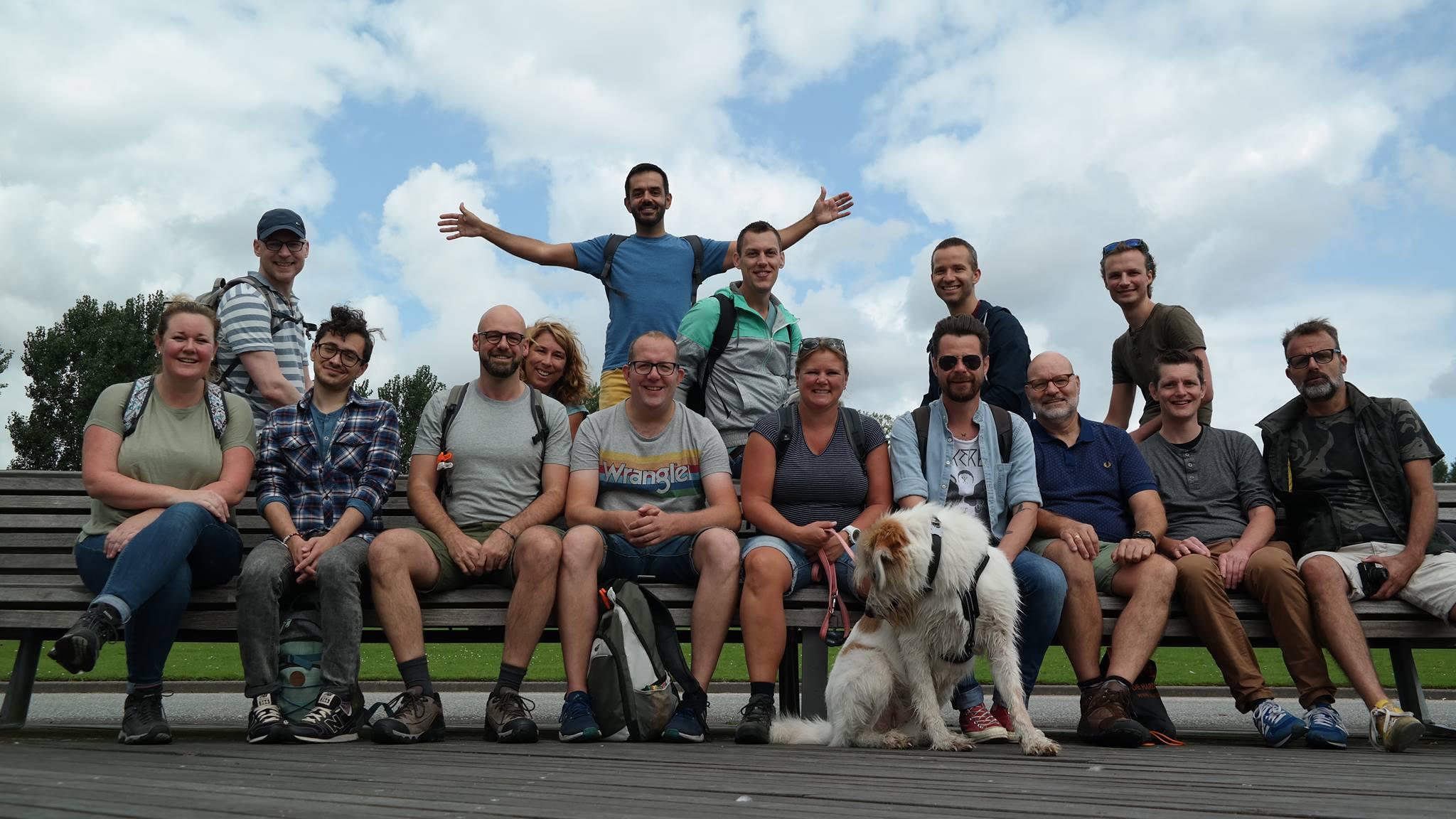 gay wandelclub Rotterdam burgers en buitenlui