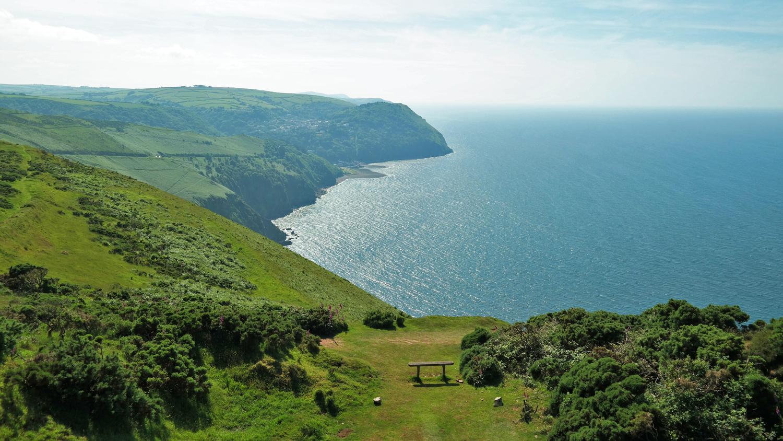 coastline devon england uk