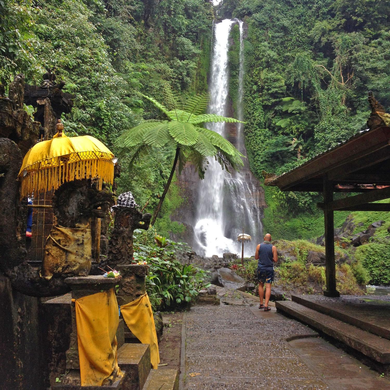 git git waterfall Bali gay travel destination
