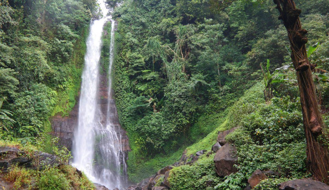 waterfall gitgit bali indonesia