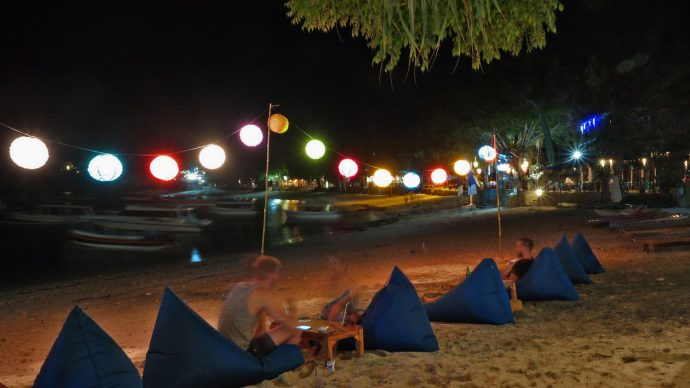Lembongan Beach sunset restaurant relax