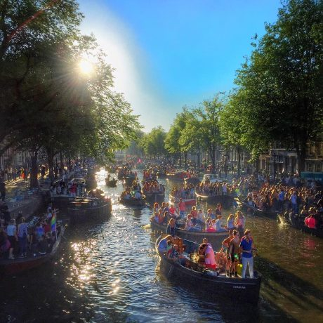 amsterdam canal pride boats