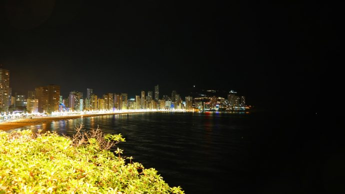 Benidorm skyline by night gay travel blogger homo reizen