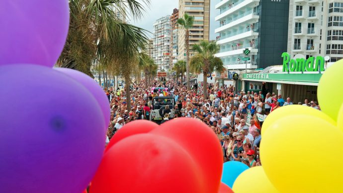 Benidorm Pride beach parade levante beach