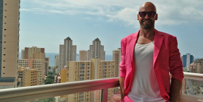 Pink Suit opposuits gay influencer serge founder of LiveLikeTom the kinda gay travel blog