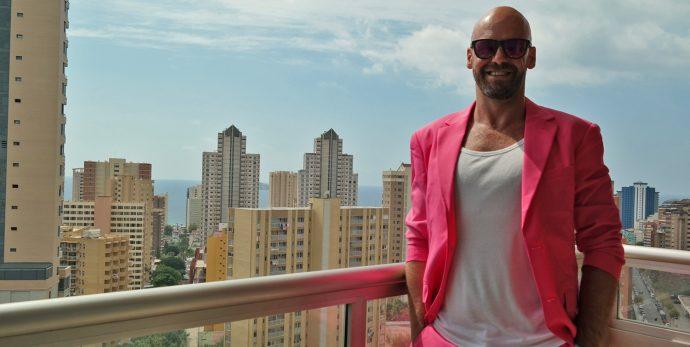 Pink Suit opposuits gay influencer serge founder of LiveLikeTom the kinda gay travel blog