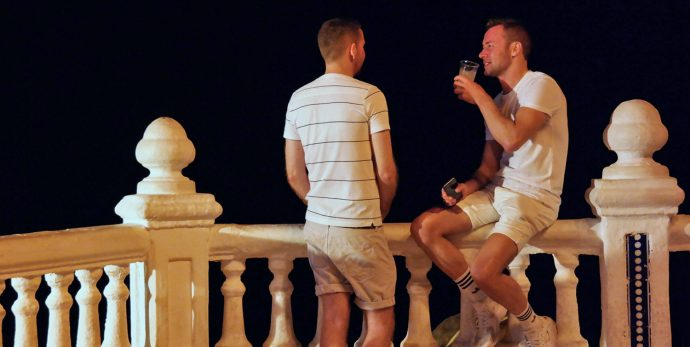 romantic gay couple in Benidorm