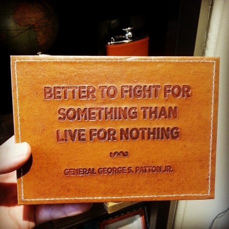 inspirational quote leather