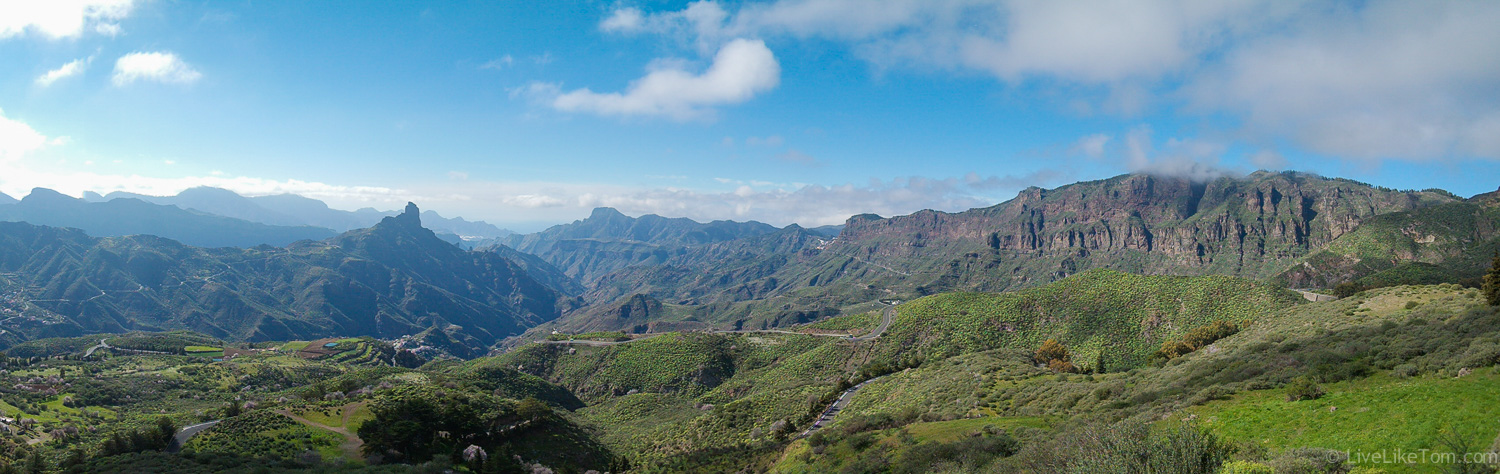 view over the beautiful island of Gran Canaria